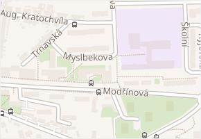 Modřínová v obci Třebíč - mapa ulice