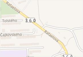 Rafaelova v obci Třebíč - mapa ulice