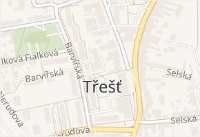 Třešť v obci Třešť - mapa části obce
