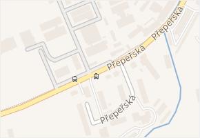 Přepeřská v obci Turnov - mapa ulice