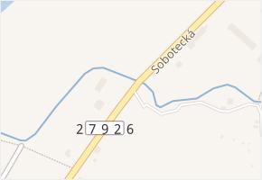 Sobotecká v obci Turnov - mapa ulice