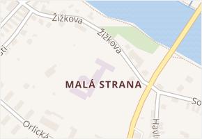 Malá Strana v obci Týn nad Vltavou - mapa části obce