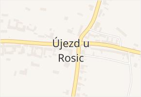 Újezd u Rosic v obci Újezd u Rosic - mapa části obce