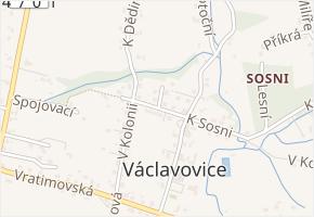 Stodolní v obci Václavovice - mapa ulice