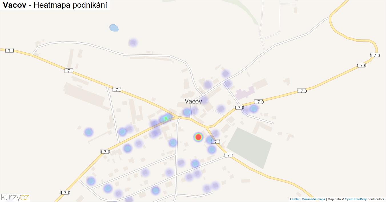 Vacov - mapa podnikání