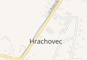 Hrachovec v obci Valašské Meziříčí - mapa části obce