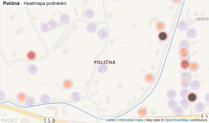 Mapa Poličná - Firmy v části obce.