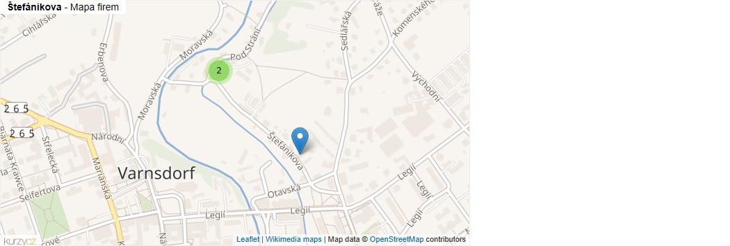 Mapa Štefánikova - Firmy v ulici.