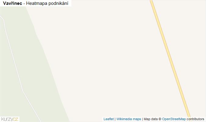 Mapa Vavřinec - Firmy v obci.