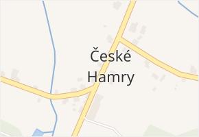 České Hamry v obci Vejprty - mapa části obce