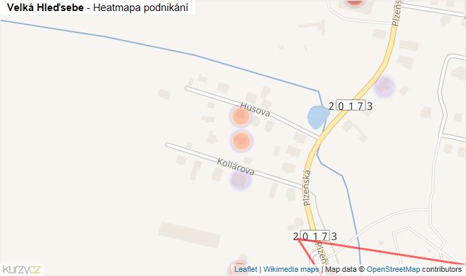 Mapa Velká Hleďsebe - Firmy v obci.