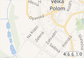 Stodolní v obci Velká Polom - mapa ulice