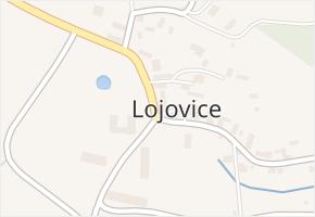 Lojovice v obci Velké Popovice - mapa části obce