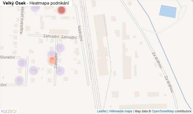 Mapa Velký Osek - Firmy v obci.