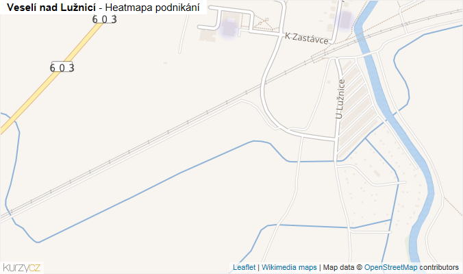 Mapa Veselí nad Lužnicí - Firmy v obci.