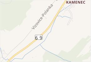 Zlínská v obci Vizovice - mapa ulice