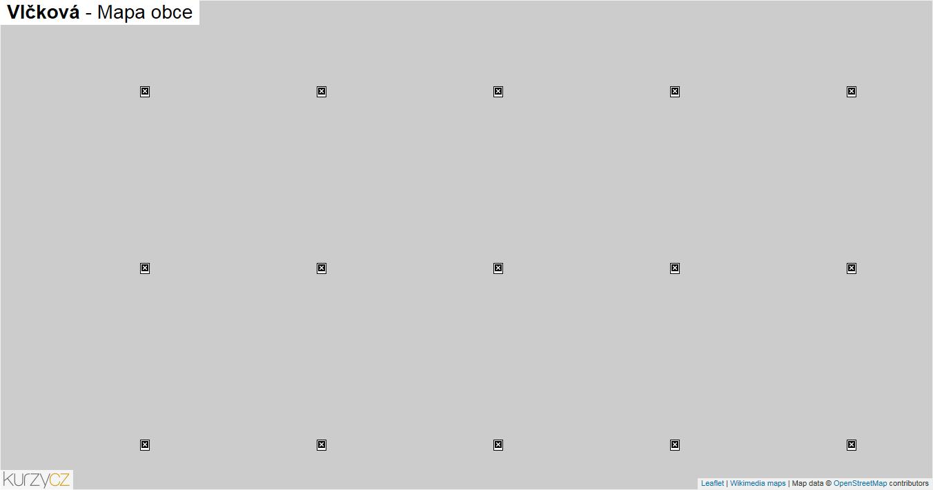 Vlčková - mapa obce