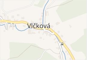 Vlčková v obci Vlčková - mapa části obce