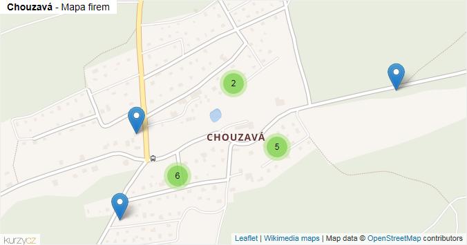 Mapa Chouzavá - Firmy v části obce.