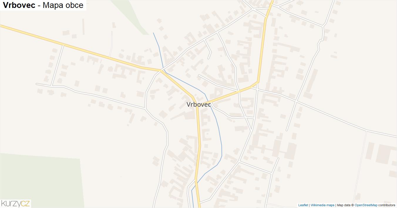 Vrbovec - mapa obce