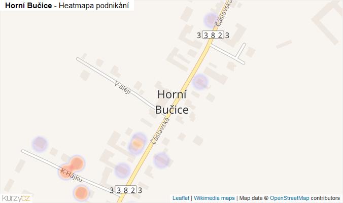 Mapa Horní Bučice - Firmy v části obce.