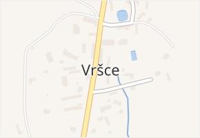 Vršce v obci Vršce - mapa části obce