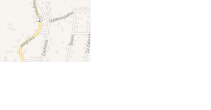 Sladkovského v obci Zásmuky - mapa ulice