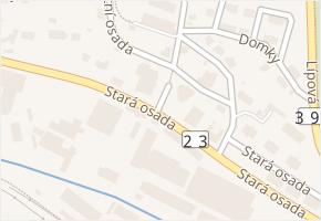 Stará osada v obci Zastávka - mapa ulice