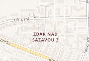 Žďár nad Sázavou 3 v obci Žďár nad Sázavou - mapa části obce