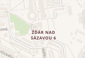 Žďár nad Sázavou 6 v obci Žďár nad Sázavou - mapa části obce