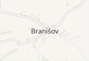 Branišov v obci Zdíkov - mapa části obce