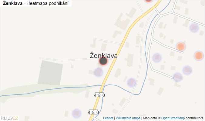Mapa Ženklava - Firmy v části obce.