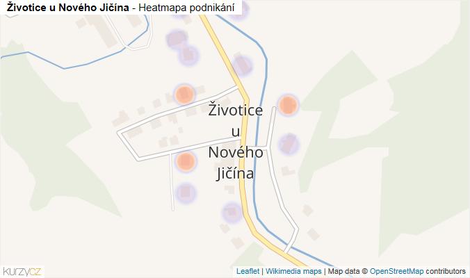 Mapa Životice u Nového Jičína - Firmy v části obce.