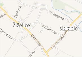 Štefanikova v obci Žiželice - mapa ulice