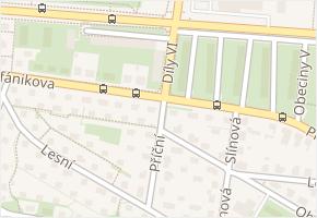 Díly VI v obci Zlín - mapa ulice