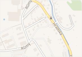 Hradská v obci Zlín - mapa ulice