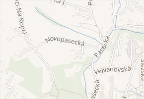 Novopasecká v obci Zlín - mapa ulice