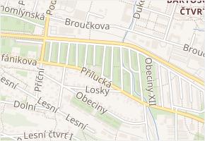 Obeciny VII v obci Zlín - mapa ulice
