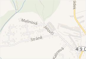Ostružinová v obci Zlín - mapa ulice