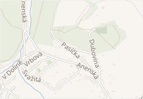 Pasíčka v obci Zlín - mapa ulice
