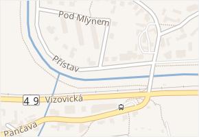 Přístav v obci Zlín - mapa ulice