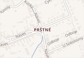 Prštné v obci Zlín - mapa části obce