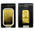Zlatý slitek Argor Heraeus  100 g litý nebo ražený