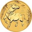 """Lunární Zlatá investiční mince """"Year of the Ox"""" Rok Buvola 1 Oz 2021"""