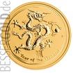 Zlatá mince  2 oz (trojské unce) ROK DRAKA Austrálie 2012