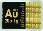 Zlatý slitek 20x1g Combibar VALCAMBI (Švýcarsko)