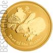 Zlatá mince 1 oz (trojská unce) ROK ZAJÍCE Austrálie 2011