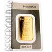 Zlatý slitek 1 oz (trojská unce) HERAEUS (Německo)