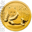 Zlatá mince Panda 1/20 oz