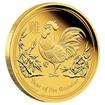 Zlatá mince 1/10 oz (trojské unce) ROK KOHOUTA Austrálie 2017
